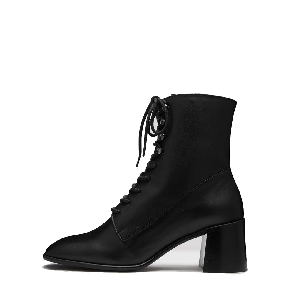 Miista EMMA BLACK LEATHER BOOTS