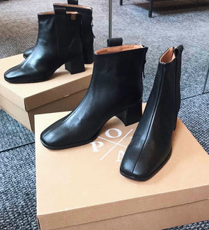 POPA Alice Black Ankle Boots
