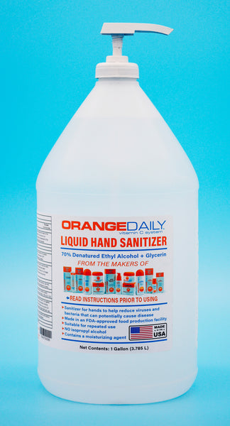 OrangeDaily Hand Sanitizer -1 Gallon - includes pump