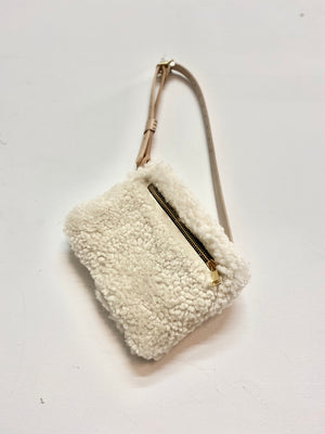 Cream Shearling Fanny Pack