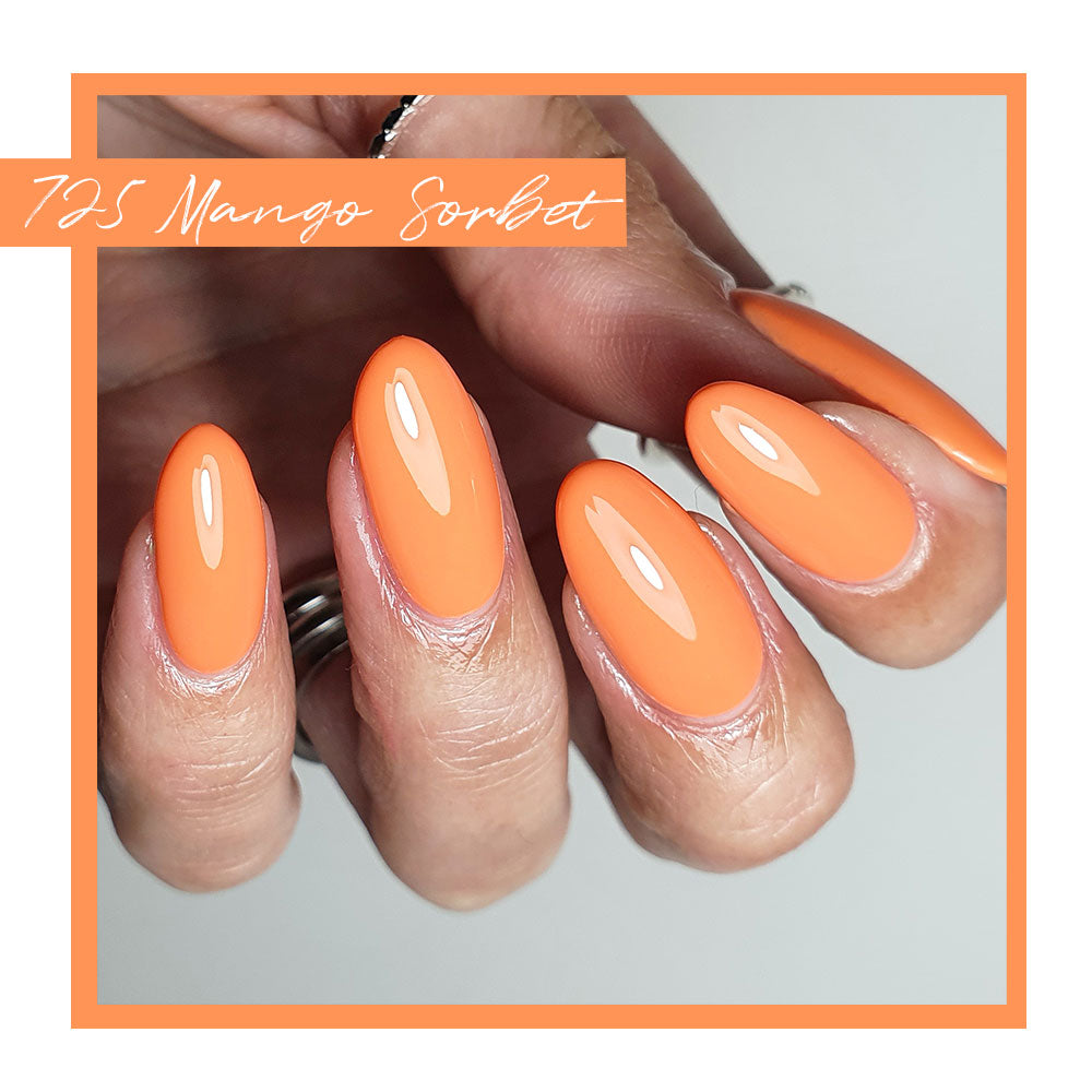 Calgel Mango Sorbet. Mango Sorbet is also available in Pro Colour.