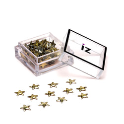 Gold Star Nail Studs 30pcs