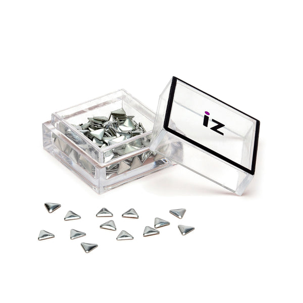 Silver Triangle Nail Art Studs 60pcs