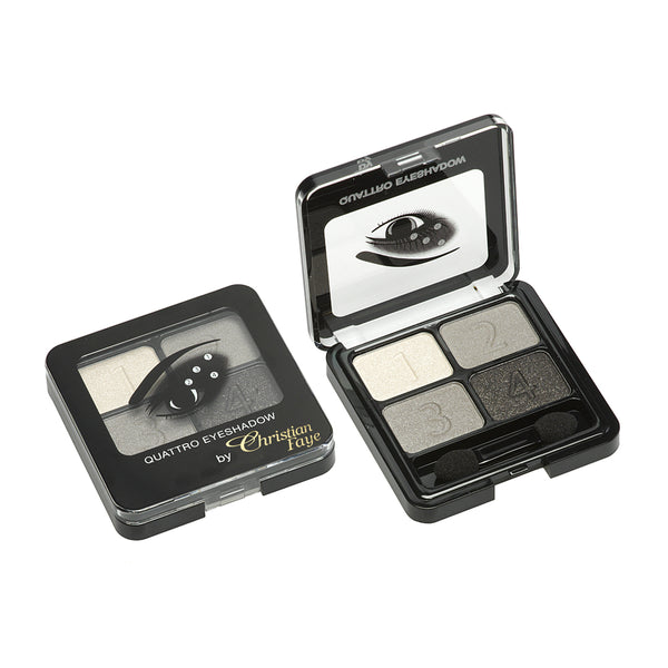 Christian Faye 4 Colour Eyeshadow Palette in Black