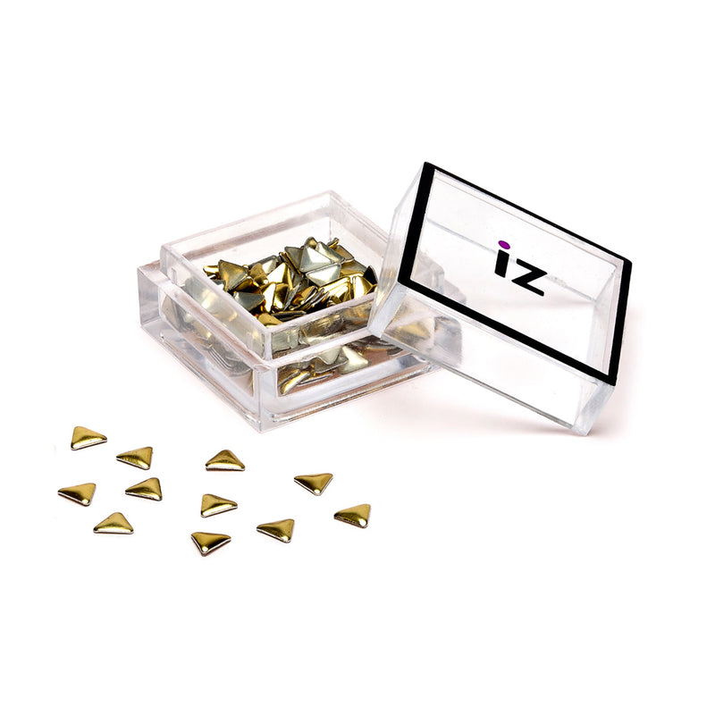 Gold Triangle Nail Studs 60pcs