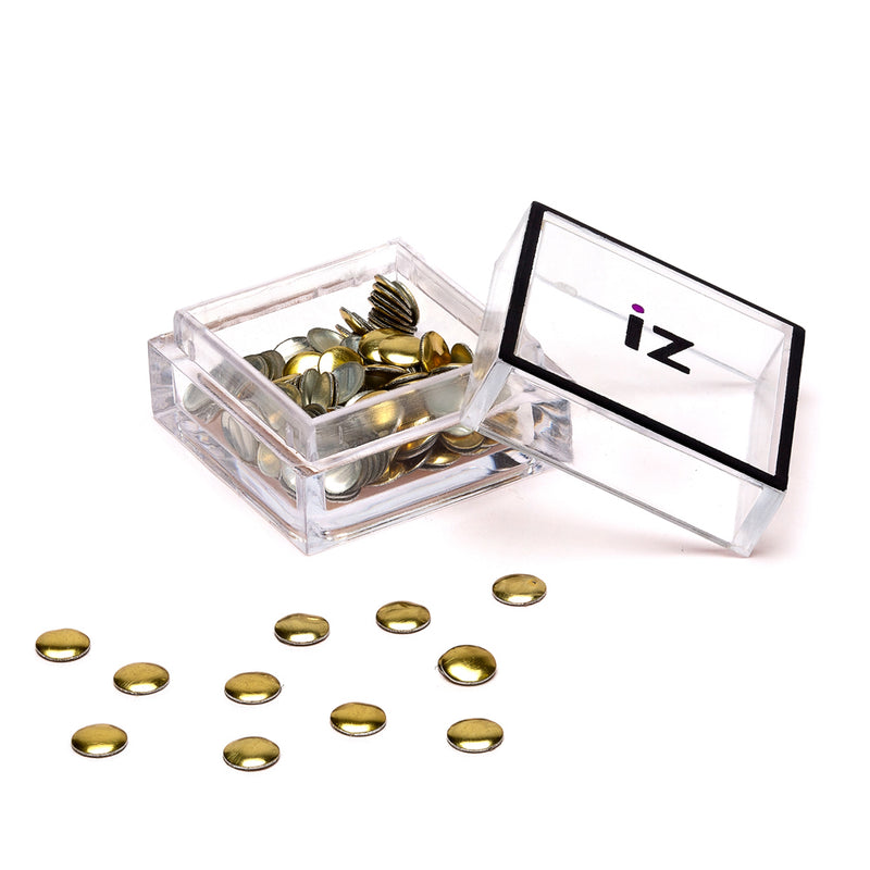 Large Gold Circle Nail Studs 30pcs