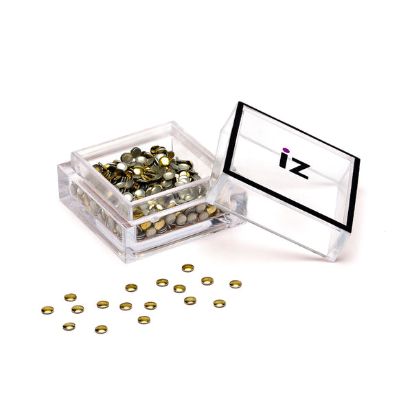 Small Gold Circle Nail Studs 60pcs