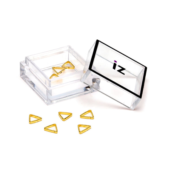3D Nail Art Charms Gold Triangle Nail Art Studs 10pcs