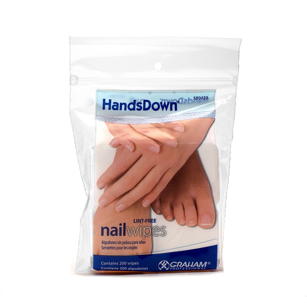Lint Free Nail Wipes. Pack of 200.
