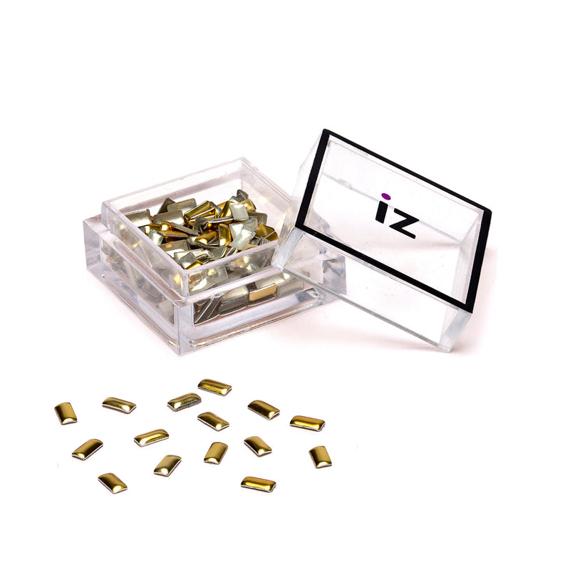 Gold Rectangle Nail Studs 60pcs