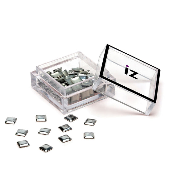 Large Silver Square Nail Art Studs 40pcs