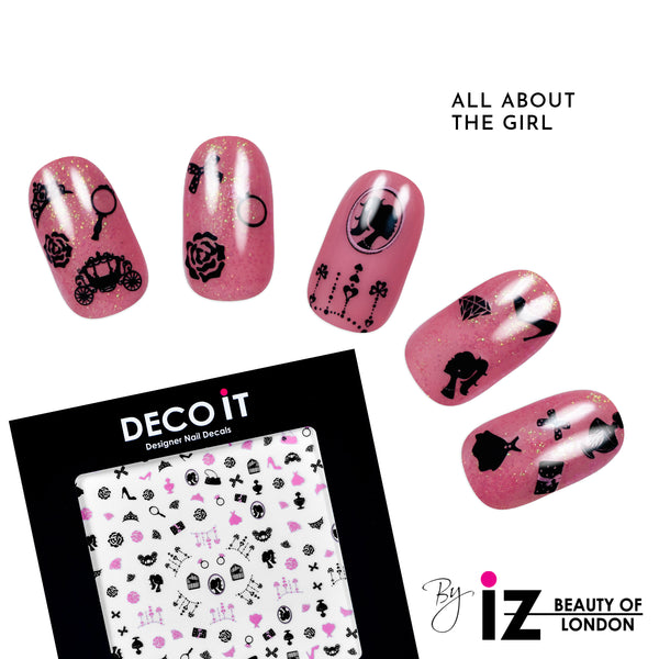 All About The Girl Nail Decals