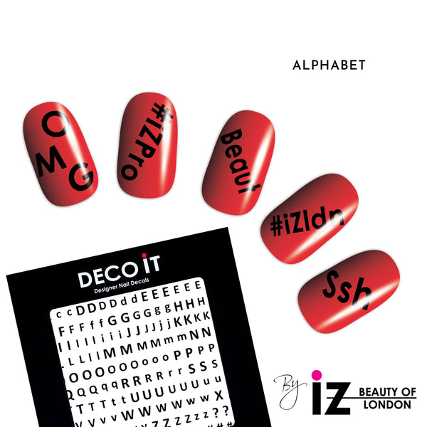 Alphabet Nail Decals