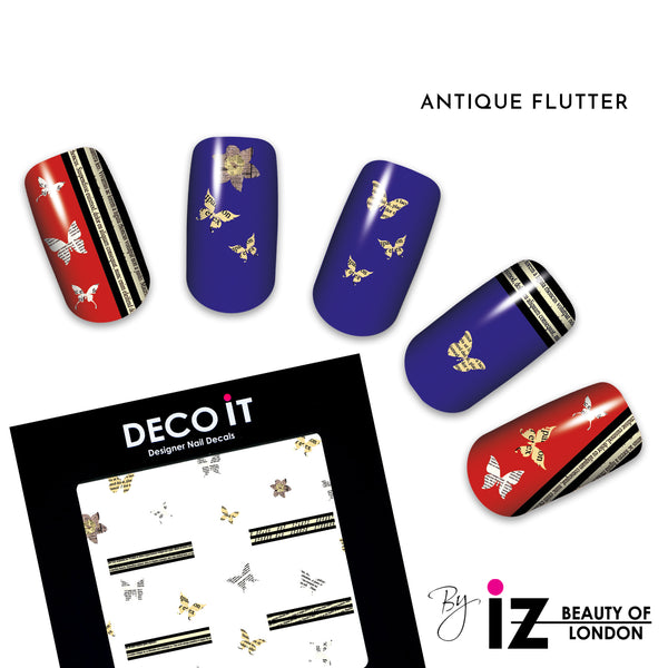 MINI Antique Flutter Nail Decals