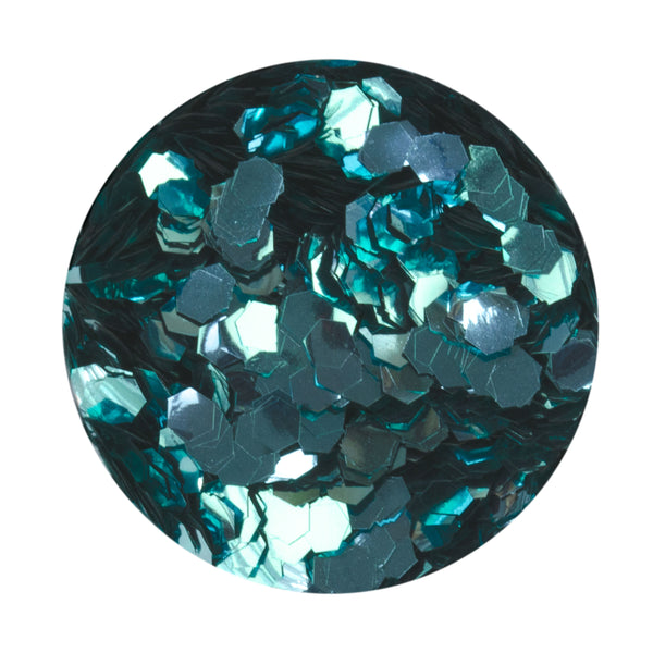 Aqua Hexagon Biodegradable Glitter