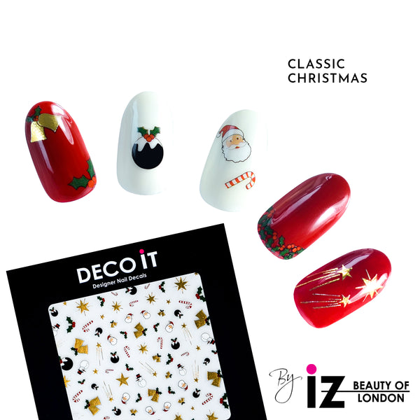 Classic Christmas Nail Decals