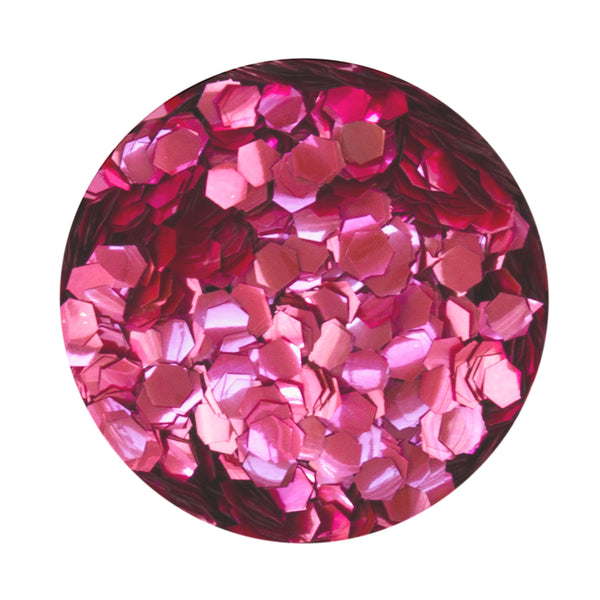 Cerise Hexagon Biodegradable Glitter