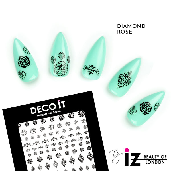 Diamond Rose Nail Decals
