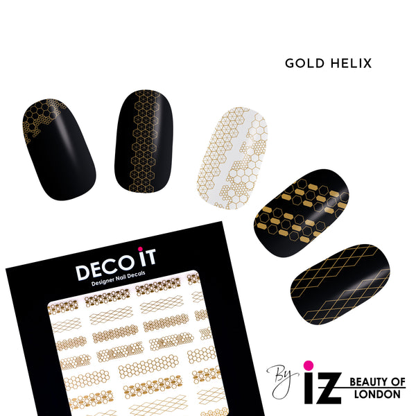 Gold Helix Nail Decals
