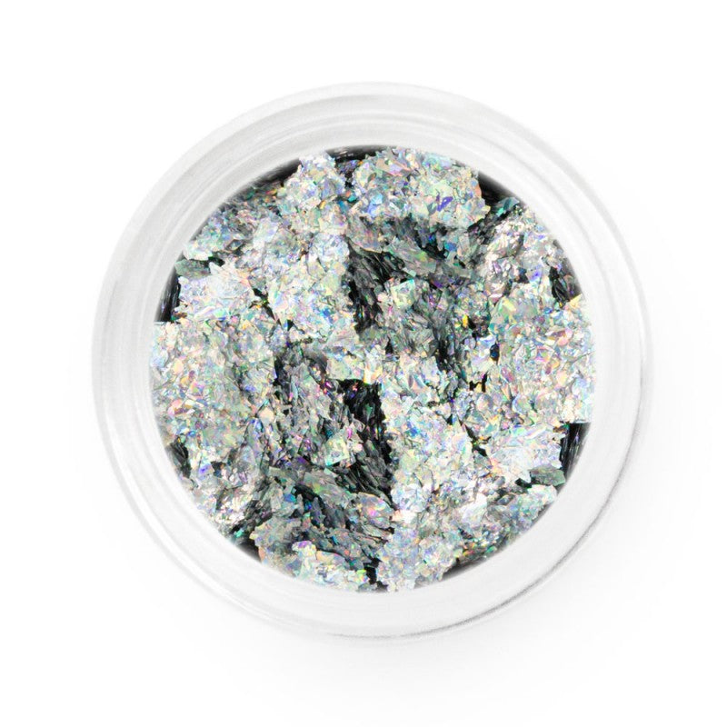 Silver Holographic Chrome Flakes