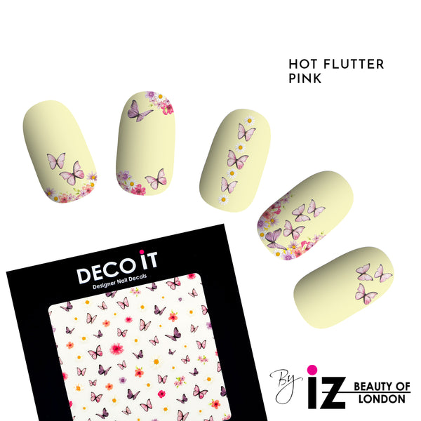 Hot Flutter Yellow Nail Decals