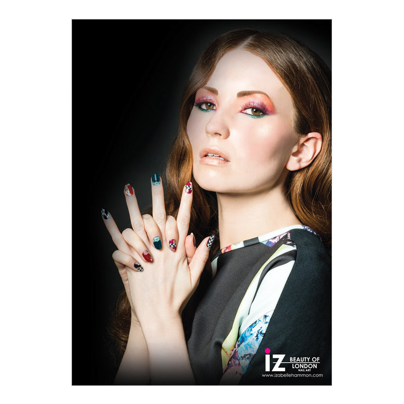 iZ Beauty Floral Nail Art Poster