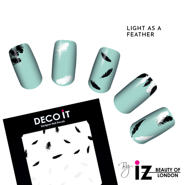 MINI Light As A Feather Nails Decals