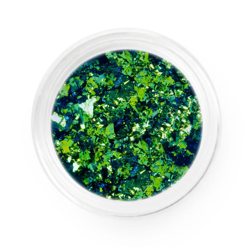 Lime Blue Chameleon Chrome Flakes
