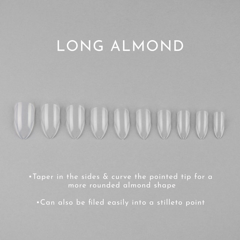 Clear Whole Nail Tips | Almond