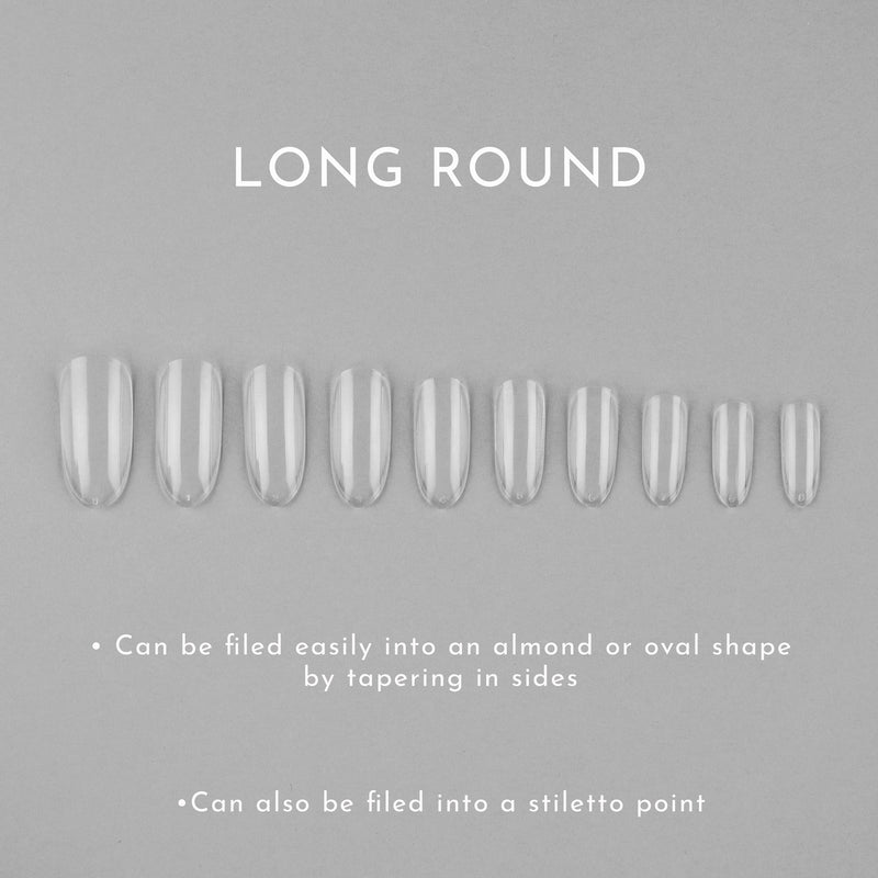 Clear Whole Nail Tips | Round