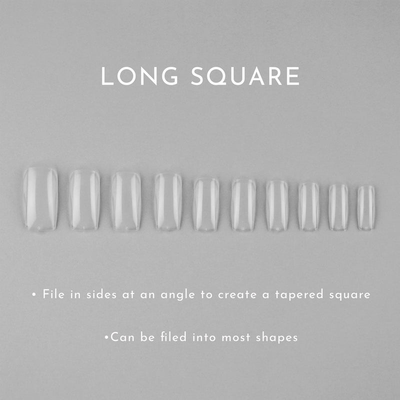Clear Whole Nail Tips | Long Square