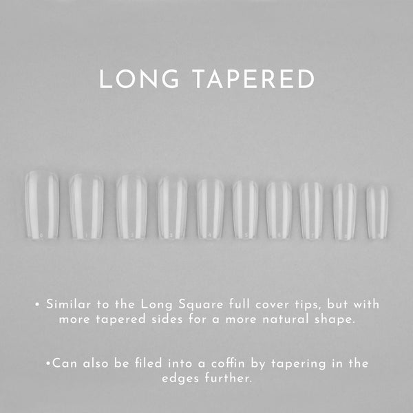 Clear Whole Nail Tips | Tapered Square