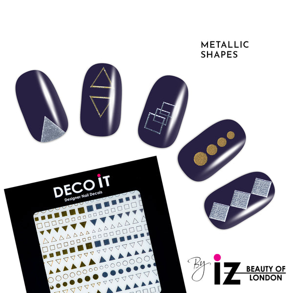 Metallic Shapes Nail Decals