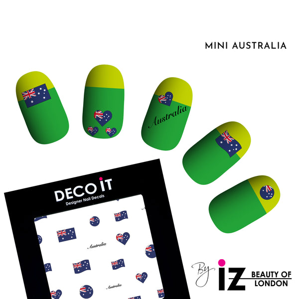 MINI Australia Flag Nail Decals