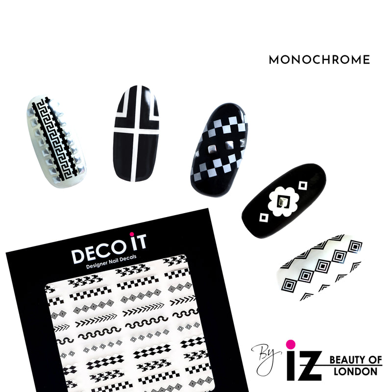Monochrome Nail Decals