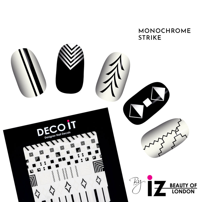 Monochrome Strike Nail Decals