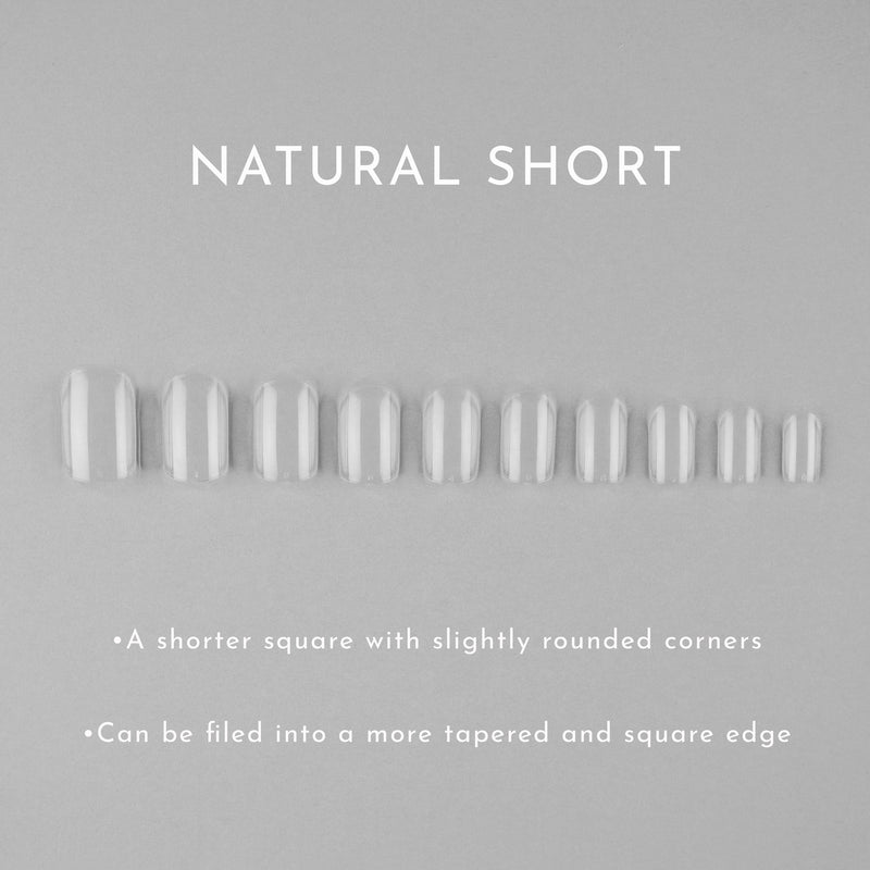 Clear Whole Nail Tips | Natural Short