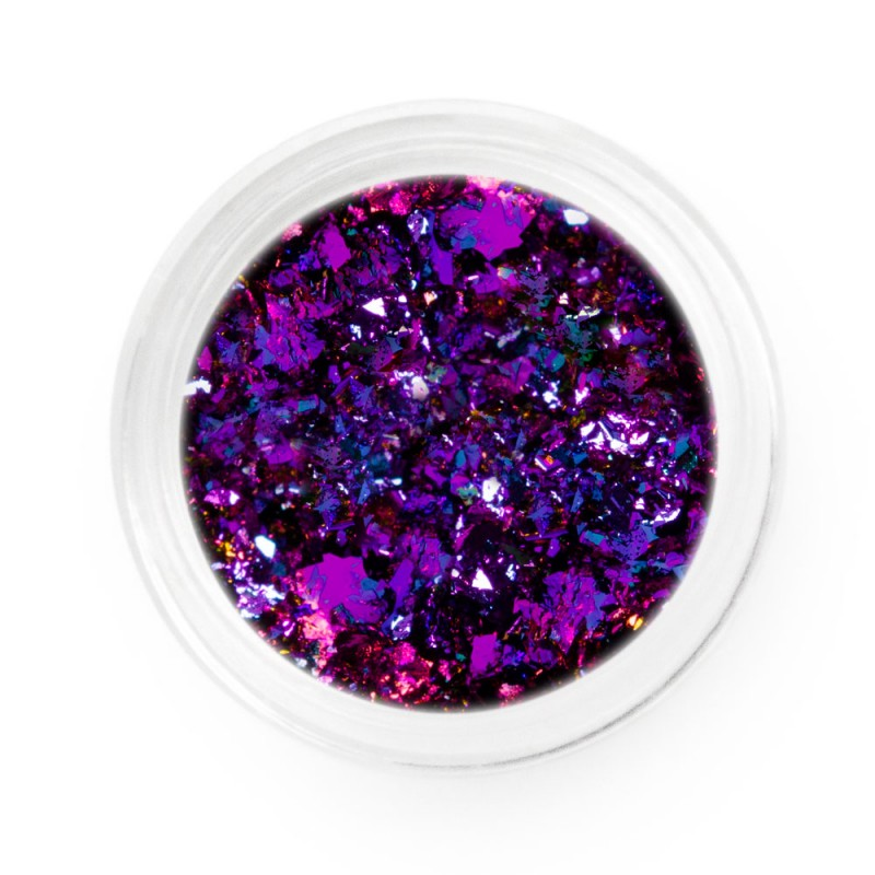 Purple Pink Chameleon Chrome Flakes