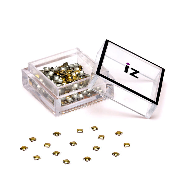 Small Gold Square Nail Studs 40pcs