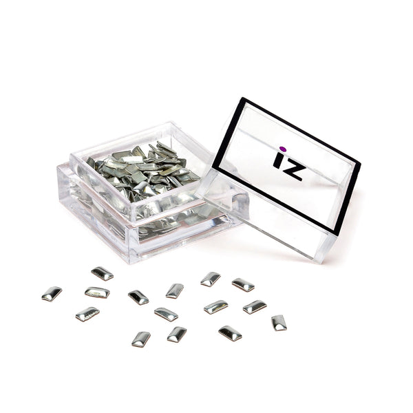 Silver Rectangle Nail Art Studs 60pcs