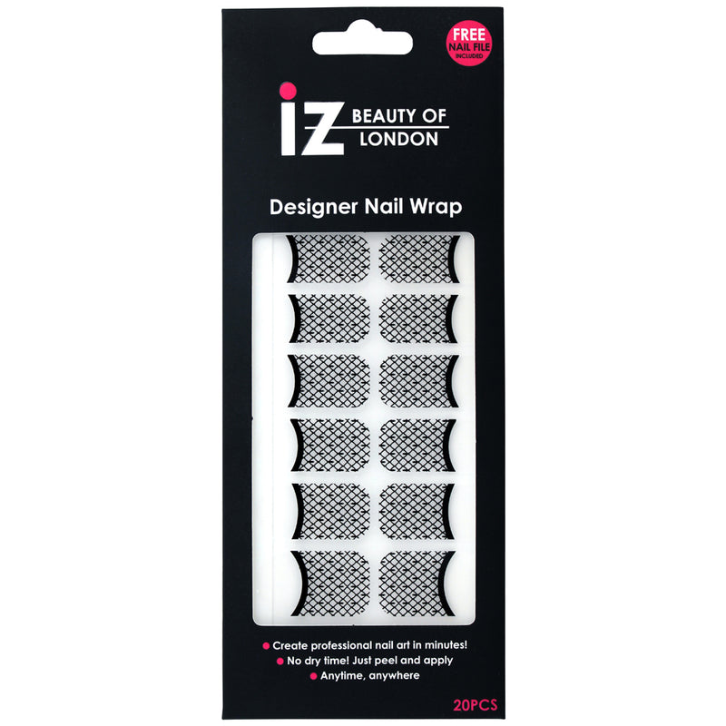 Lace French Maincure Nail Wraps