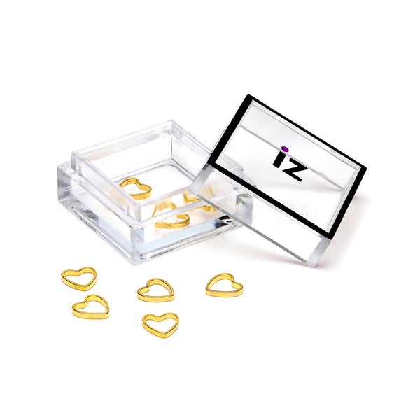 3D Small Gold Heart Nail Art Charms 10pcs