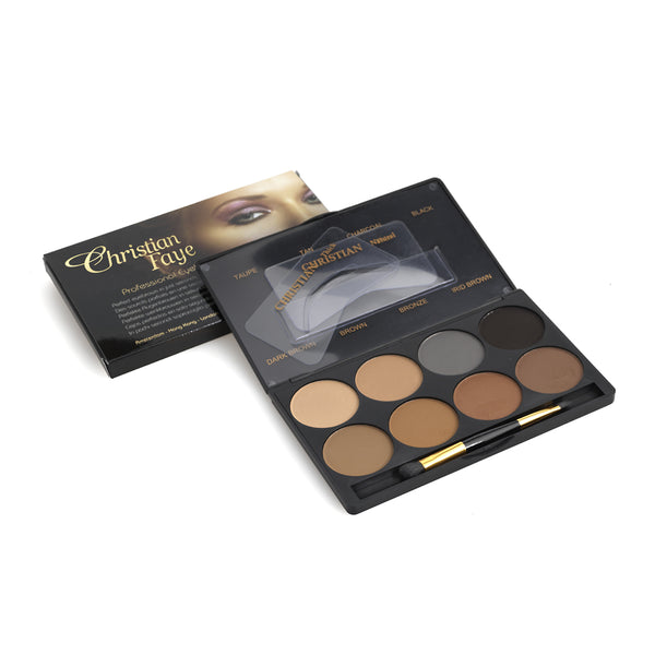 Christian Faye 8 Colour Eyebrow Powder Palette