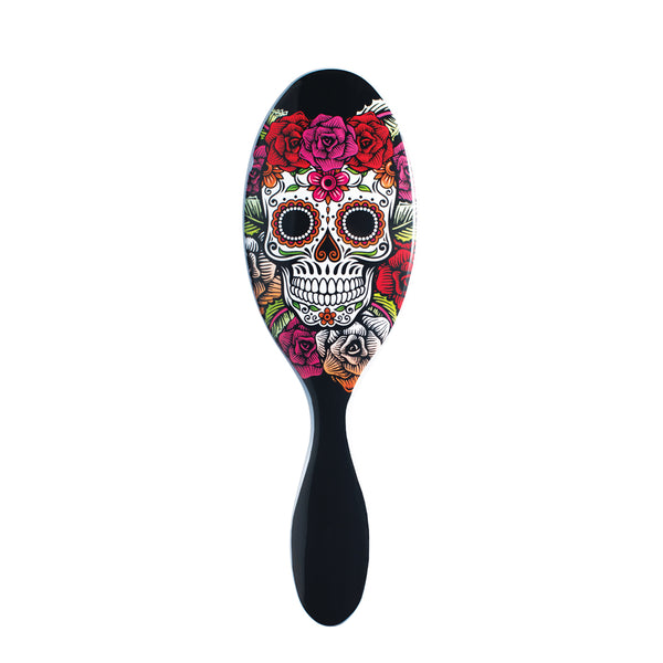 Wet Brush Sugar Skull Red Roses