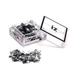 Mirrored Nail Flakes Silver