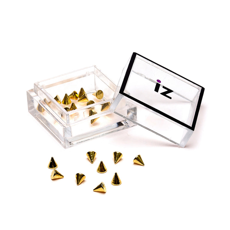 Gold Spikes Nail Studs 20pcs