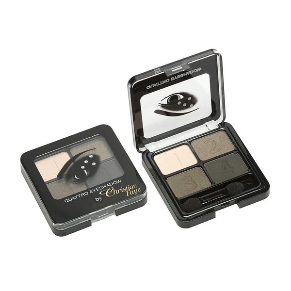 Christian Faye 4 Colour Eyeshadow Palette in Brown