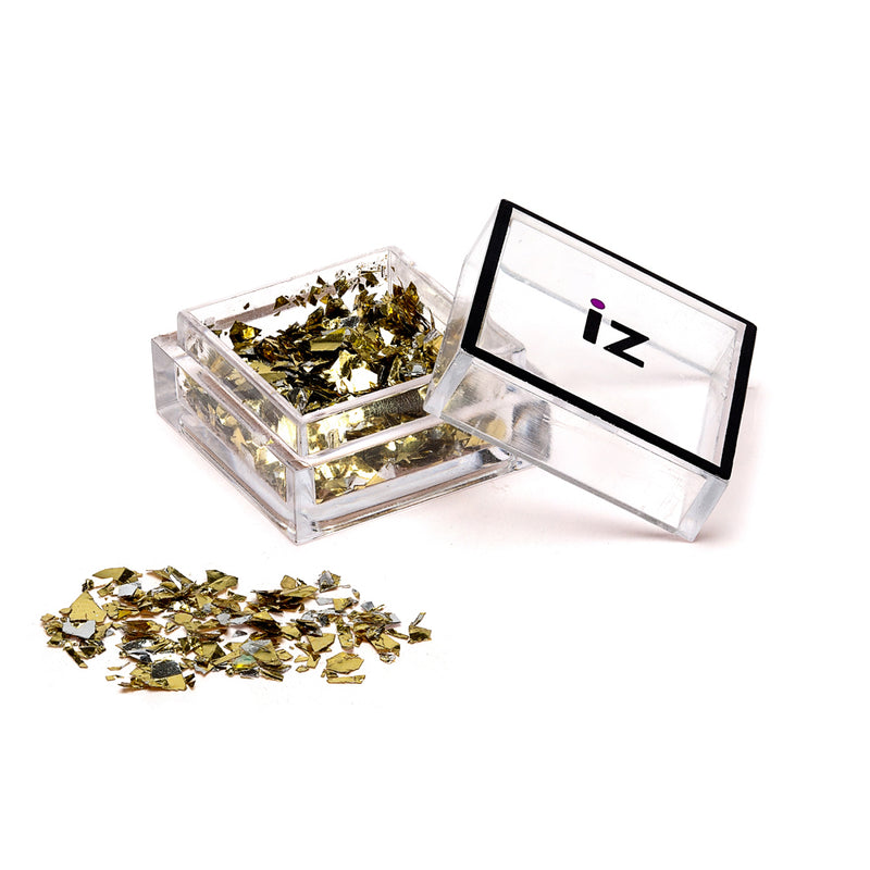 Mirrored Nail Flakes Gold