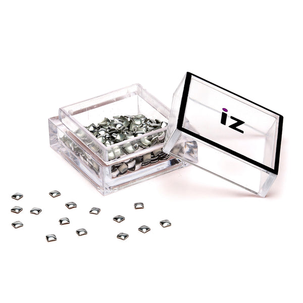 Small Silver Square Nail Art Studs 60pcs