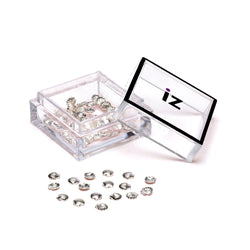 Small Silver Shell Nail Gems 30pcs